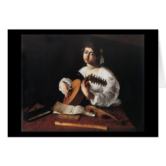 Caravaggio The Lute Player Card