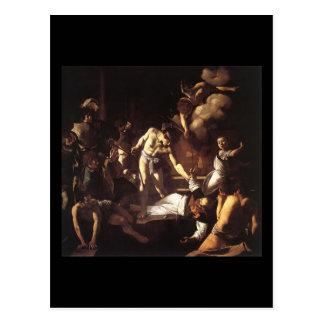 Caravaggio The Martyrdom Of St Matthew Postcard