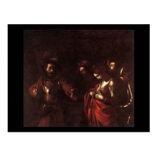 Caravaggio The Martyrdom Of St Ursula Postcard