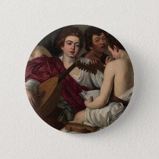Caravaggio - The Musicians - Classic Artwork 6 Cm Round Badge