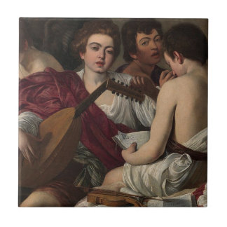 Caravaggio - The Musicians - Classic Artwork Ceramic Tile