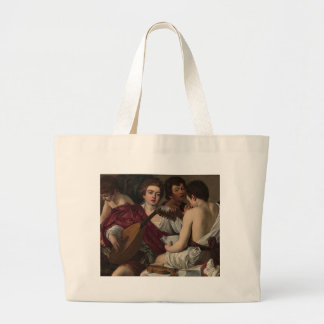 Caravaggio - The Musicians - Classic Artwork Large Tote Bag