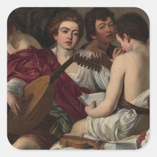 Caravaggio - The Musicians - Classic Artwork Square Sticker