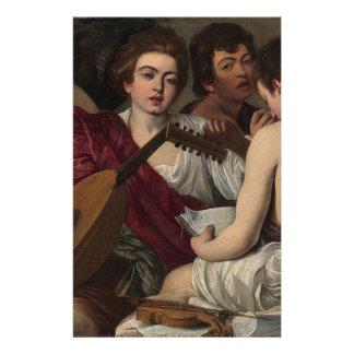 Caravaggio - The Musicians - Classic Artwork Stationery