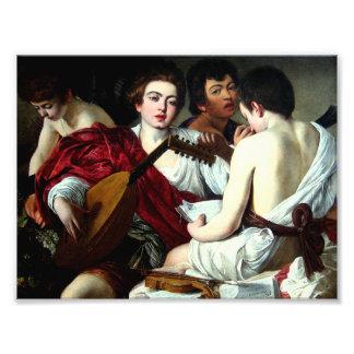 Caravaggio The Musicians Photo Art