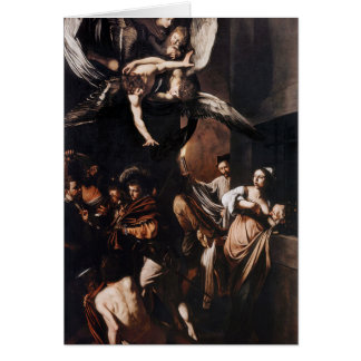 Caravaggio - The seven Works of Mercy Painting Card