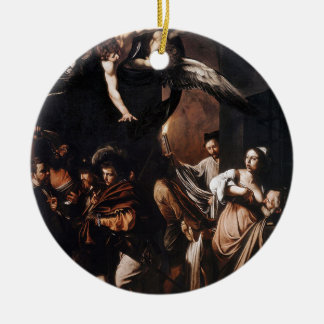 Caravaggio - The seven Works of Mercy Painting Ceramic Ornament