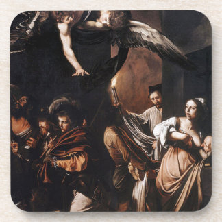Caravaggio - The seven Works of Mercy Painting Coaster