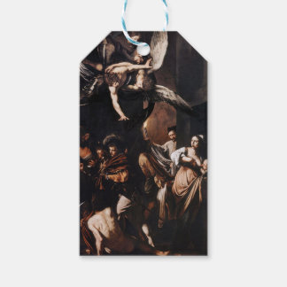 Caravaggio - The seven Works of Mercy Painting Gift Tags