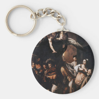 Caravaggio - The seven Works of Mercy Painting Key Ring