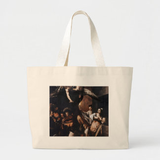 Caravaggio - The seven Works of Mercy Painting Large Tote Bag