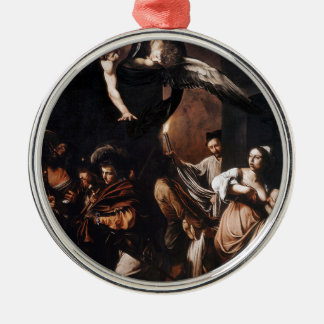 Caravaggio - The seven Works of Mercy Painting Metal Ornament