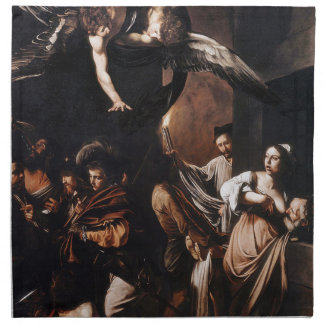 Caravaggio - The seven Works of Mercy Painting Napkin