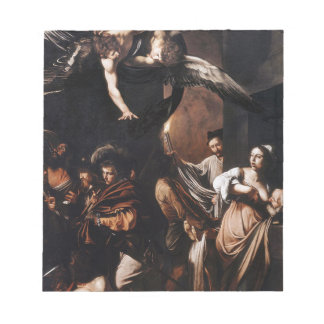Caravaggio - The seven Works of Mercy Painting Notepad