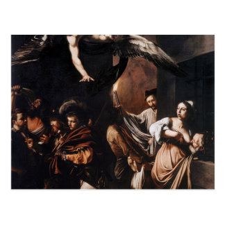 Caravaggio - The seven Works of Mercy Painting Postcard