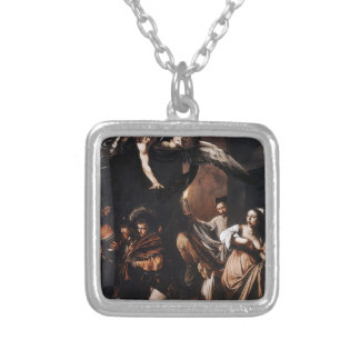 Caravaggio - The seven Works of Mercy Painting Silver Plated Necklace