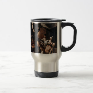 Caravaggio - The seven Works of Mercy Painting Travel Mug