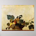 Caravaggio's Basket of Fruit Print