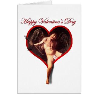 Caravaggio's Cupid for Valentine's Day Card