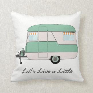 Caravan Cushion - Retro Caravan - Summer Vacation