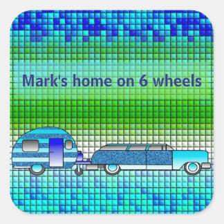 Caravan Faux Ceramic Tile Sticker
