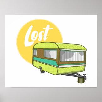 Caravan Lost Rerto Sixties Style Poster