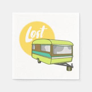Caravan Lost Retro Seventies Style Paper Napkin