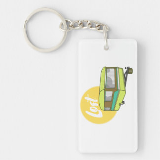 Caravan Lost Summer Holiday Double-Sided Rectangular Acrylic Key Ring