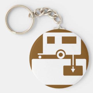 Caravan Park Sign Keychain