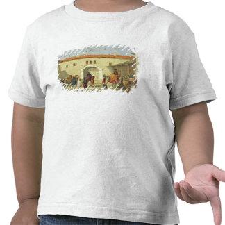 Caravanserai at Mylasa, Turkey, 1845 (oil on panel Shirts