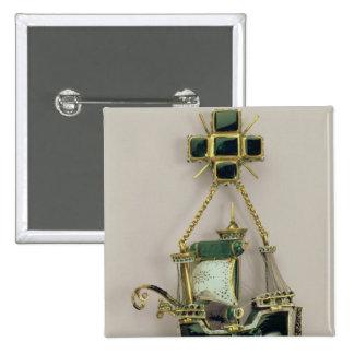 Caravel pendant, 1580s-90s 15 cm square badge