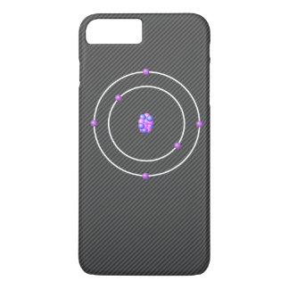 Carbon Atom with Carbon FIber Background iPhone 8 Plus/7 Plus Case
