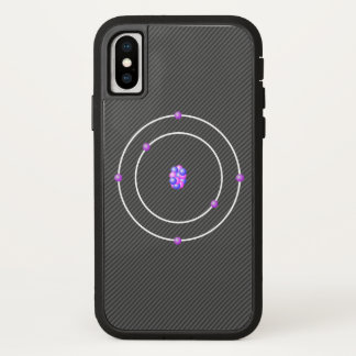Carbon Atom with Carbon Fiber Background iPhone X Case