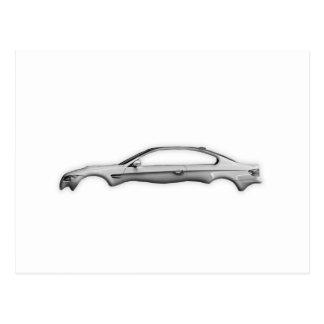 Carbon Car M3 3D Fashion Accessory Transparent Postcard