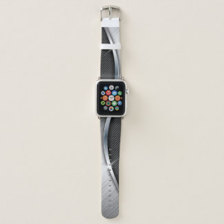 Carbon Fiber & Brushed Metal 4 Apple Watch Band