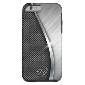 Carbon Fiber & Brushed Metal 4 Case