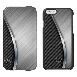 Carbon Fiber & Brushed Metal 4 Incipio Watson™ iPhone 6 Wallet Case