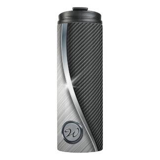 Carbon Fiber & Brushed Metal 4 Thermal Tumbler