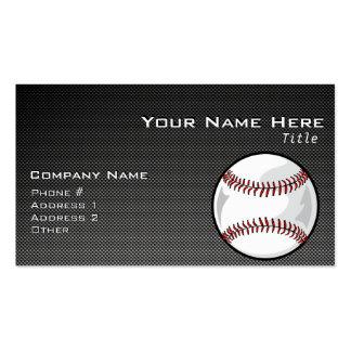 Carbon Fiber look Baseball Pack Of Standard Business Cards