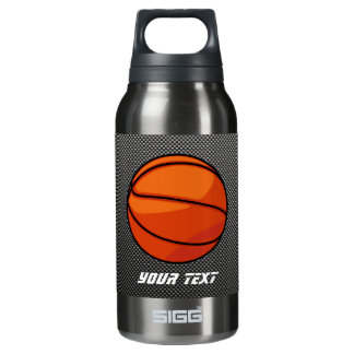Carbon Fiber look Basketball Insulated Water Bottle