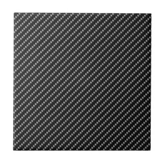Carbon Fiber Look Small Square Tile