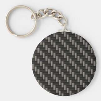 Carbon Fiber Material Basic Round Button Key Ring