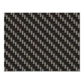 Carbon Fiber Material (faux) 11 Cm X 14 Cm Invitation Card