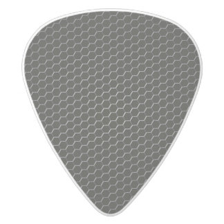 Carbon-fiber-reinforced polymer white delrin guitar pick
