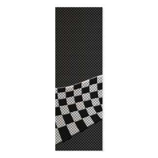 Carbon Fiber Style Racing Flag Wave Decor Pack Of Skinny Business Cards