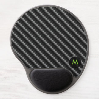 Carbon Fiber Style with Monogram Gel Mouse Pad
