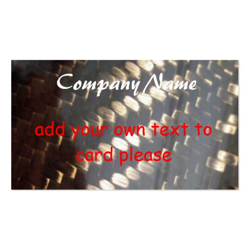 carbon_fiber_weave, Company Name, add your own ... Business Card Template