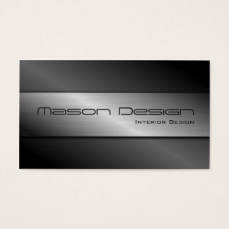 Carbon Fibre and Brushed Steel Business Card