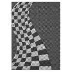 Carbon Fibre Like Racing Flag Wave Print Tablecloth