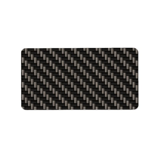 Carbon Fibre Material Address Label